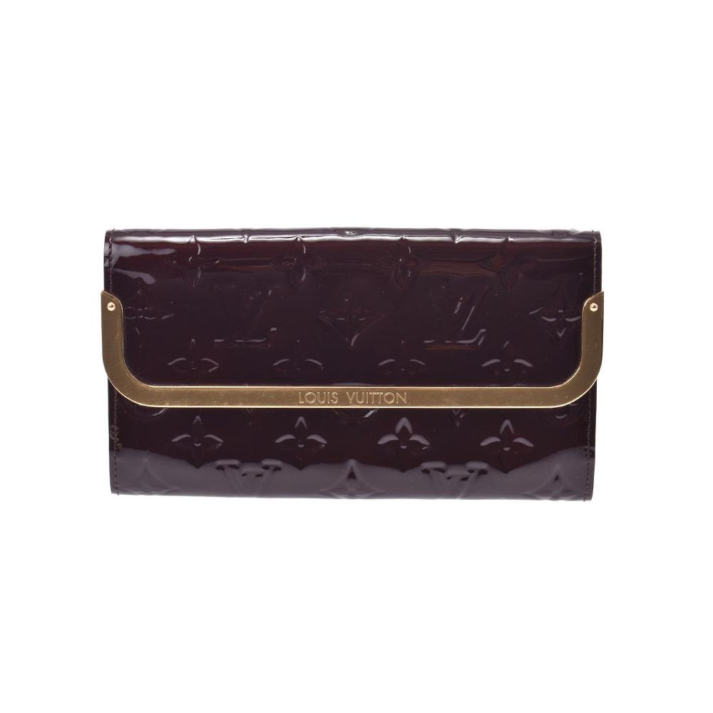 Louis Vuitton Vernis Portofeil Rossmore Amarante M91591 Ladies Long Purse B rank LOUIS VUITTON used Ginzo