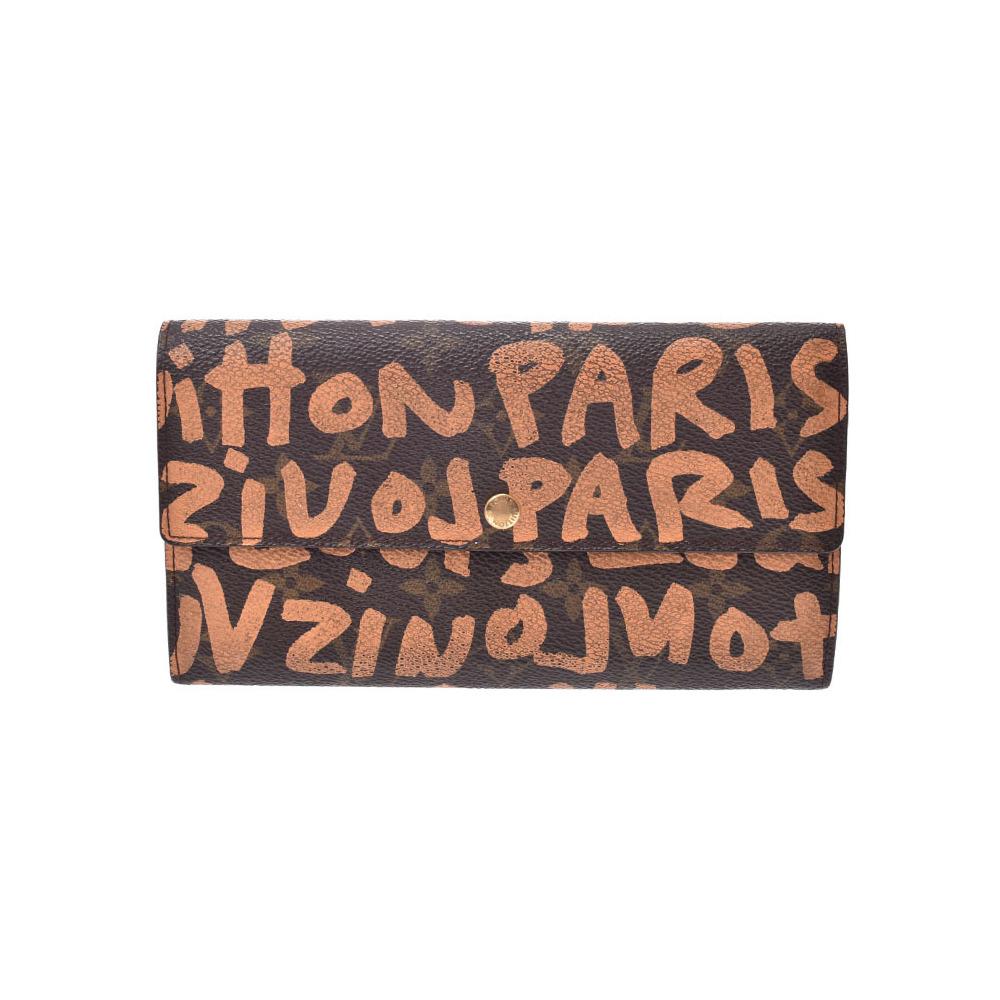 Louis Vuitton Graffiti Portofeau Yusara Peach M92190 Women's Genuine Leather Handbag B rank LOUIS VUITTON Used Ginzo