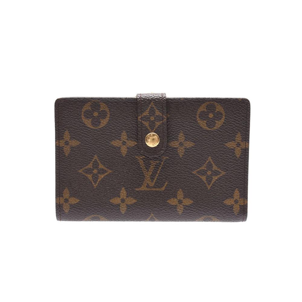 Louis Vuitton Monogram Portone Bivienova Brown M61663 Old Men's Ladies Genuine Leather Purse B rank LOUIS VUITTON Used Ginzo
