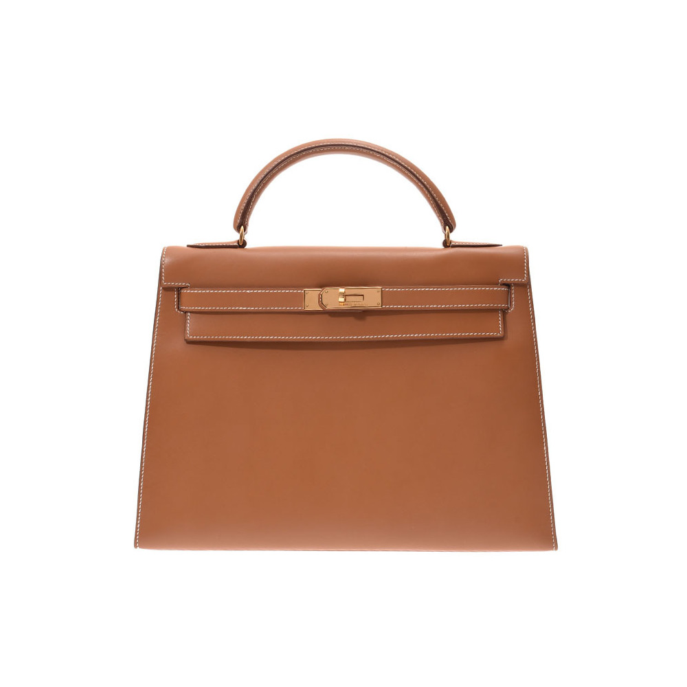 Hermes Kelly 32 outside stitching Gold G hardware ○ U engraved Women's Chamonix 2WAY handbag A rank HERMES used Ginzo