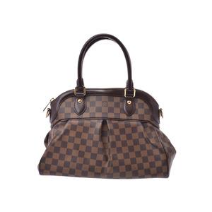 ルイ・ヴィトン(Louis Vuitton) ルイヴィトン ダミエ トレヴィPM ブラウン N51997 レディース 本革 2WAYハンドバッグ ABランク LOUIS VUITTON ストラップ付 中古 銀蔵