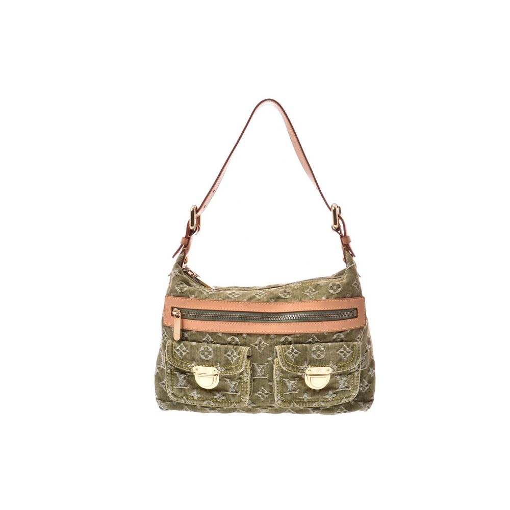 Louis Vuitton Denim Buggy PM Short Strap Khaki M95213 Women's One-shoulder Bag B Rank LOUIS VUITTON Used Ginzo