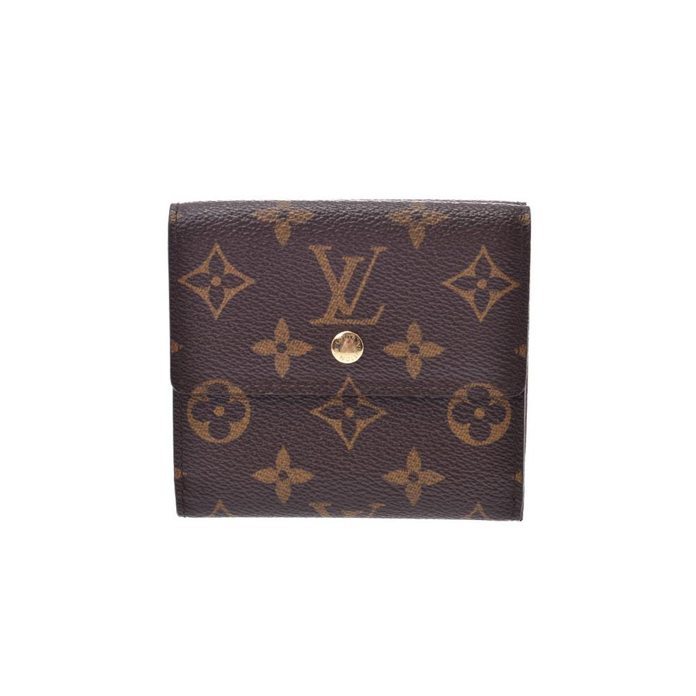Louis Vuitton Monogram Porto Feuyu Ellies Brown M61654 Men's Women's Genuine Leather W Hook Wallet A Rank Beauty Product LOUIS VUITTON Used Ginzo