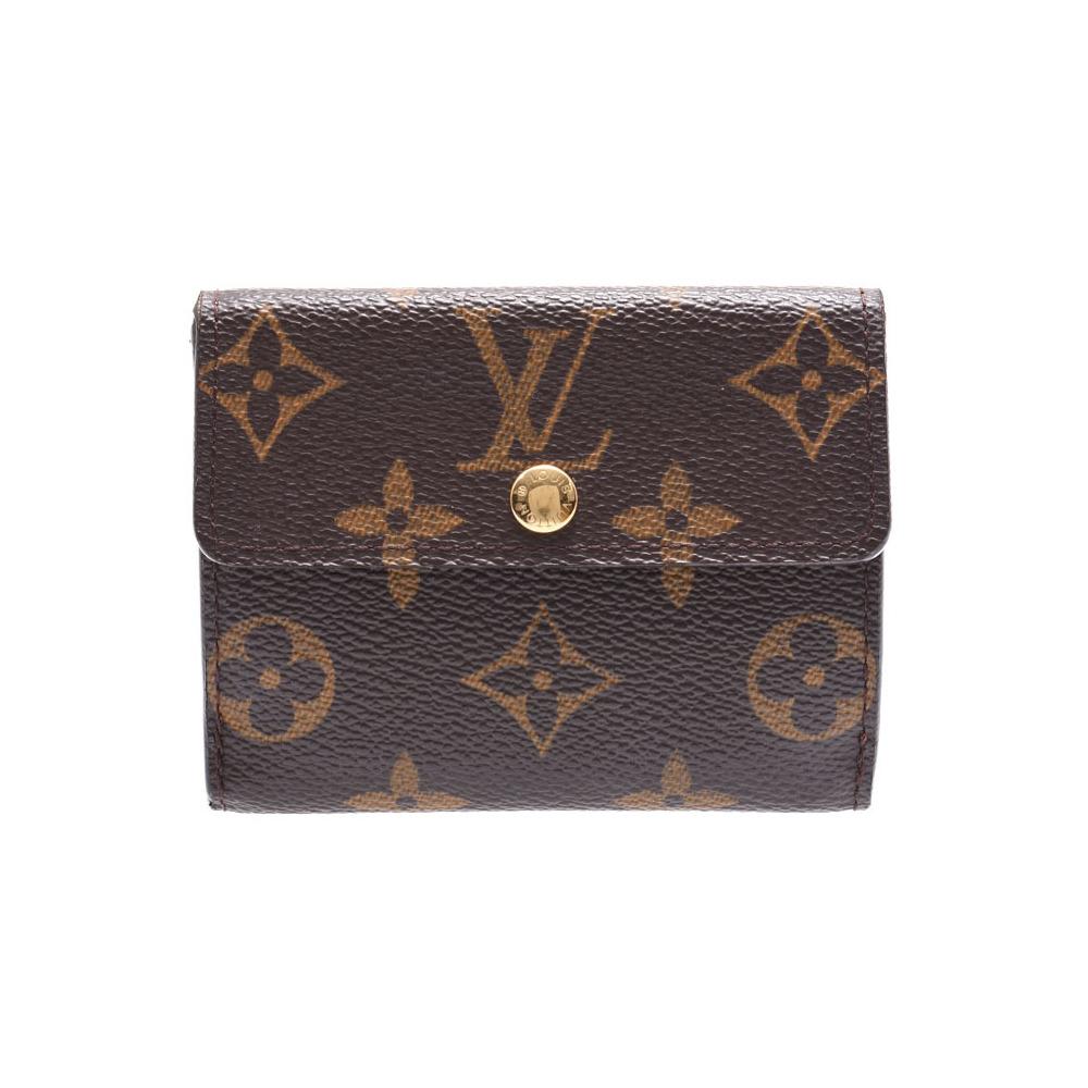 Louis Vuitton Monogram Ludlow Brown M61927 Men's Genuine Leather Coin Case B Rank LOUIS VUITTON Used Ginzo