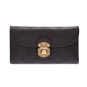 Louis Vuitton Mahina Portofoy Yuameria Black M95549 Women's Leather Purse B rank LOUIS VUITTON Used Ginzo