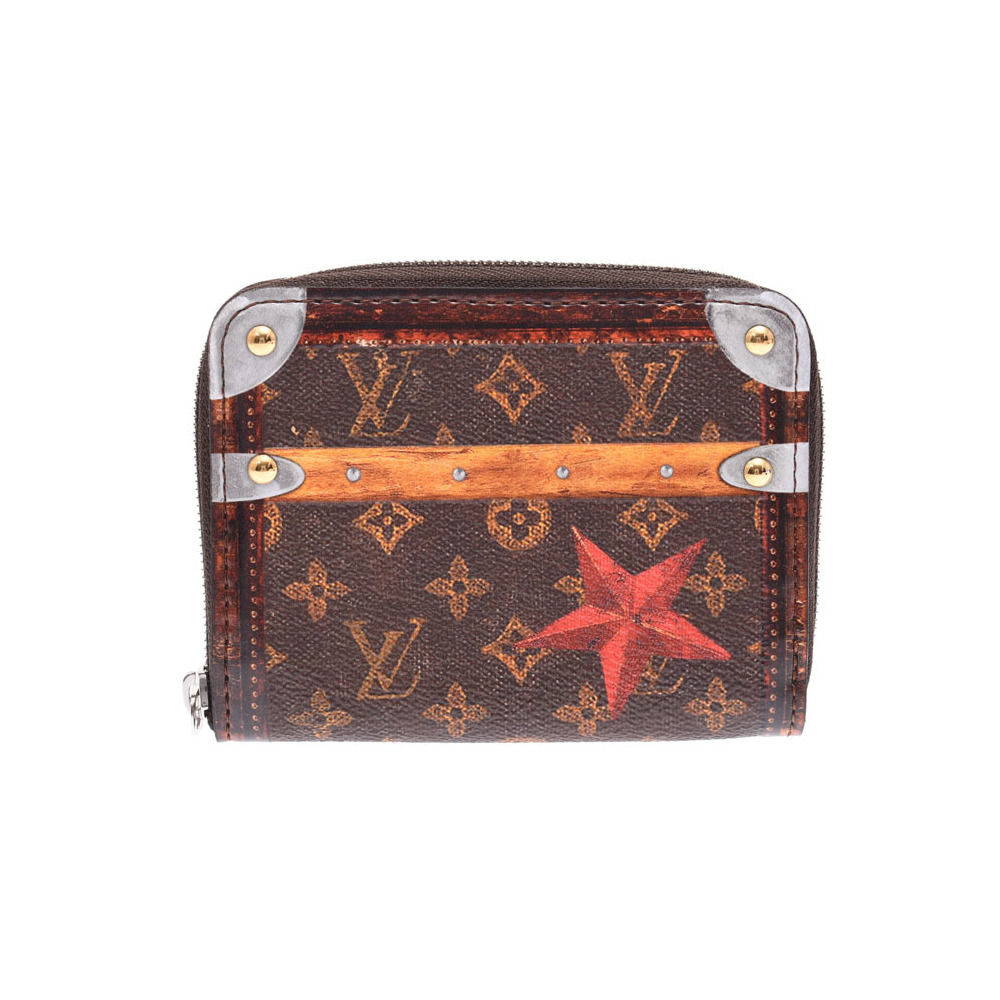 Louis Vuitton Trunk Time Zippy Coin Purse Brown M63834 2018 Collection Line Men's Women's Wallet Unused Beauty Product LOUIS VUITTON Used Ginzo