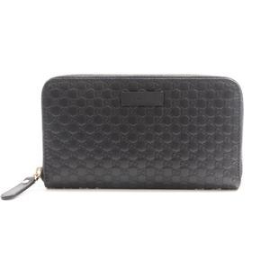 Gucci MicroGuccissima Zip Around Wallet Men's  Calfskin Wallet Black