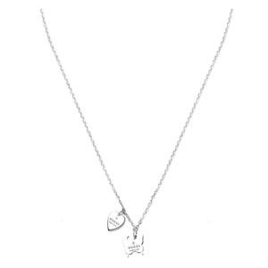 Gucci Butterfly & Heart Motif Silver 925 Women's Casual Pendant (Silver)