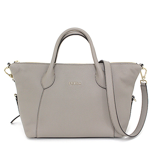 Furla FURLA 2WAY handbag leather gray gold hardware BNT6-905999 shoulder bag