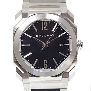 BVLGARI Men's Watch Oktowatch BGO41S Black (Black) Dial Automatic Like New