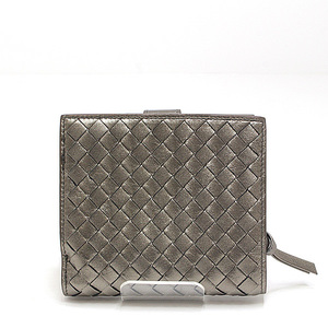 BOTTEGA VENETA Bottega Veneta Two-fold wallet 114073 Bronze Lambskin like new