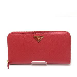 PRADA Prada Safiano round zipper long wallet 1ML506 FUOCO (red)