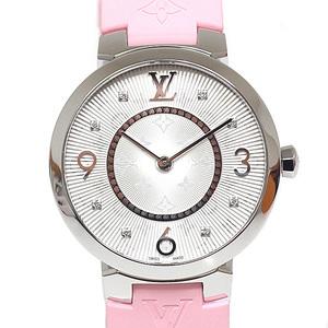 LOUIS VUITTON Louis Vuitton Ladies Watch Tambour Monogram Q13 MJ Silver Dial Quartz