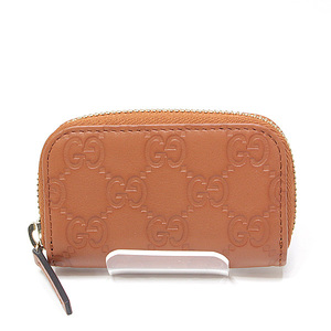 GUCCI Gucci Outlet Sima Leather Coin Case 324801 Brown