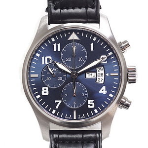 IWC Men's Watch Pilot Chronograph Petit Prince IW 377706 Blue Dial Automatic