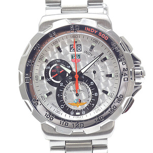 TAG HEUER Heuer Mens Watch Formula 1 Grand Date Chronograph Indy 500 CAH101B Silver Dial Quartz