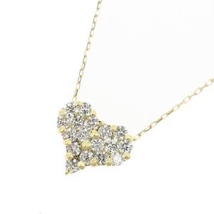 4℃ Genuine K18 Diamond 0.30ct Heart Necklace 1.4g