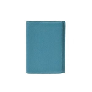 Hermes Agenda GM Turquoise □ Q imprint Men's Women's shave notebook cover B rank HERMES used Ginzo