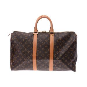 ルイ・ヴィトン(Louis Vuitton) ルイヴィトン モノグラム キーポル45 ブラウン M41428 レディース メンズ 本革 ボストンバッグ ABランク LOUIS VUITTON 中古 銀蔵