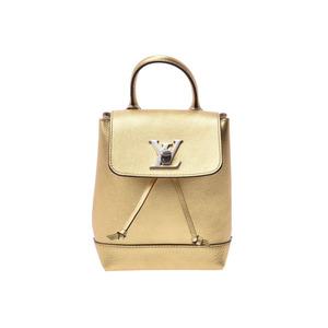 ルイ・ヴィトン(Louis Vuitton) ルイヴィトン ロックミー バックパックミニ ゴールド M54575 レディース レザー リュック Aランク 美品 LOUIS VUITTON 中古 銀蔵