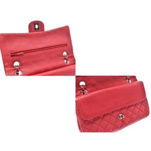 シャネル(Chanel) シャネル マトラッセ チェーンショルダーバッグ 赤 SV金具 レディース ソフトキャビアスキン ABランク CHANEL 中古 銀蔵