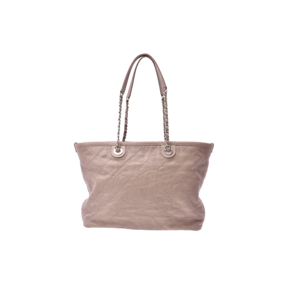 Chanel Matrasse Chain tote bag gray series SV metal fittings Women's soft caviar A rank beauty goods CHANEL used Ginzo