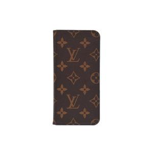 Louis Vuitton iPhone 7 & 8 Folio Blue Men's Women's Genuine Leather Case B Rank LOUIS VUITTON Used Ginzo