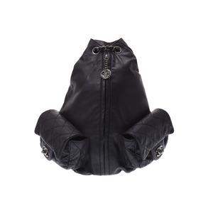 シャネル(Chanel) シャネル マトラッセ チェーン バッグパック 黒 SV金具 レディース ラムスキン リュック Aランク CHANEL 中古 銀蔵