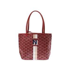 Goyard Saint-Louis Jr. Red Ladies PVC Handbag A rank beauty item GOYARD used Ginzo