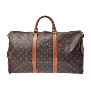 Louis Vuitton Monogram Kiepol 50 Bundriere Brown M41416 Men's Genuine Leather Boston Bag C Rank LOUIS VUITTON With strap