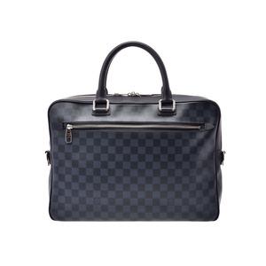 ルイ・ヴィトン(Louis Vuitton) ルイヴィトン ダミエコバルト ポルトドキュマン ビジネス 青系 N41347 本革 バッグ Aランク LOUIS VUITTON 中古 銀蔵