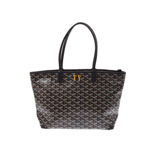Goyard Artois PM Black Men's Women's PVC Leather Tote Bag B Rank GOYARD Used Ginzo