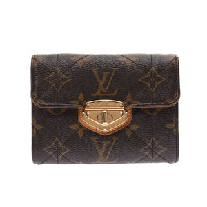 Louis Vuitton Monogram Etoile Portofoil Compact Brown M63799 Ladies Genuine Leather Purse A Rank Beauty Product LOUIS VUITTON Used Ginzo