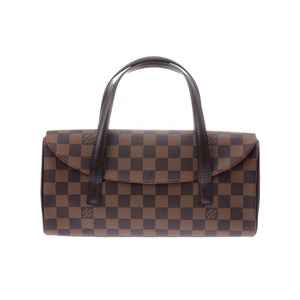 ef3adb72d1b1 Louis Vuitton Damier Sonatine SP order Brown Ladies Genuine Leather Handbag  A rank beauty item LOUIS