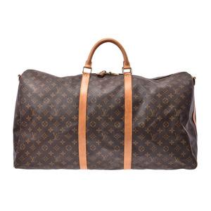 ルイ・ヴィトン(Louis Vuitton) ルイヴィトン モノグラム キーポル60 バンドリエール ブラウン M41412 メンズ レディース 本革 ボストンバッグ Bランク LOUIS VUITTON 中古 銀蔵