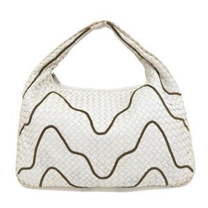Genuine Bottega Veneta Intrecherto chain studs one shoulder white Model: 169867 Bag leather