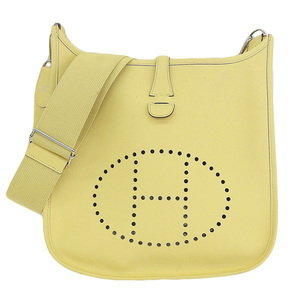 HERMES Hermes Evelyn 3 PM Vaux Epson Jonubushsan Yellow T engraved bag leather