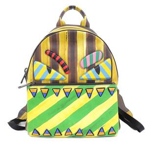 Genuine FENDI Fendi Leather Bugs Monster Backpack Multicolor 7VZ012 OHW F07K5 Bag