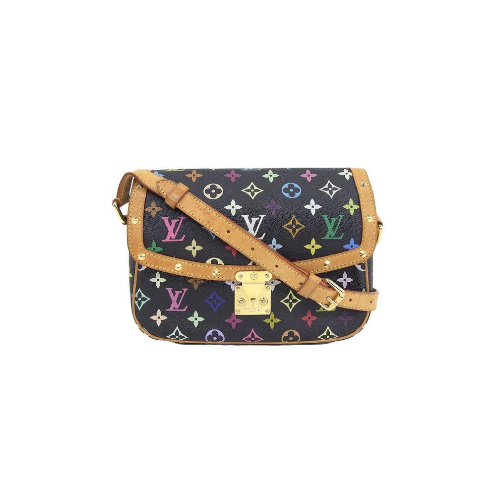 Louis Vuitton monogram multi Sologne shoulder bag noir black model number: M92639 leather
