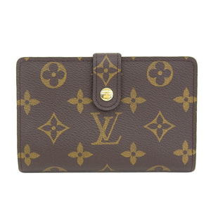 Genuine LOUIS VUITTON Louis Vuitton Monogram Vienova Two-folded wallet Gama purse Leather