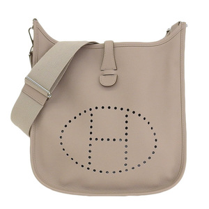 Genuine HERMES Hermes Evelyn 3 PM Vaux Epson Etope T engraved bag leather