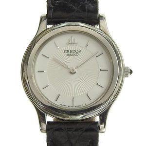 Genuine SEIKO Seiko Credor SS × K18 Ladies Quartz Watch 5A70-2010 13.0g