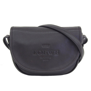 Genuine LOEWE Loewe calf leather Shoulder bag Heritage brown tea
