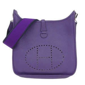 HERMES TRONY CLEMANS Evelyn 3 PM Amazon Ultra Violet □ P Engraved Bag Leather
