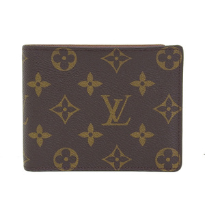 Genuine LOUIS VUITTON Louis Vuitton Monogram Portofoil-Florin Folded Wallet Leather