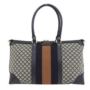 Genuine GUCCI Gucci Diamante 2WAY Tote Bag Shoulder Beige Leather