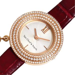 Van Cleef & Arpels Charm Mini Quartz PG Solid Diamond Ladies Watch