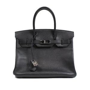HERMES Birkin 30 Epson Noir □ M minute handbag Women