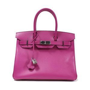 HERMES Birkin 30 Epson Rose Purple C ハ ン ド バ ッ グ Handbag Women