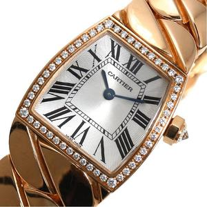 Cartier Ladonia SM WE600601 Quartz PG Solid Diamond Bezel Ladies Watch